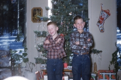 Rick and Randy Morgan, Christmas 1960
