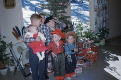 Paul III with Morgan cousins Christmas 1960