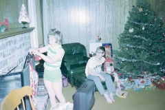 Lisa and Paul, Christmas 1972