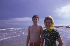 Paul III and Barbara at Padre Island, 1974