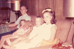 Jerry Johnson, Laurie, Lisa Mayes, Barbara Johnson(to be) Midland 1967