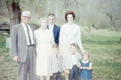 Paul Mayes Sr., Jack, Jo Anne, Jay and Judy Miller, Paul Mayes III 1965