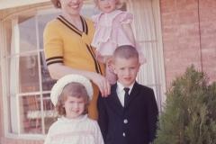 Barbara, Paul, Laurie, Lisa Easter 1966