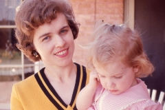 Barbara and Lisa Mayes, Easter 1966 Abilene