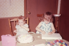 Laurie and Lisa Abilene 1966 (Lisa's 2nd birthday)