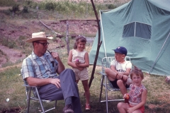 Paul III, Laurie, Lisa 1968 Camping Trip Davis Mnts.