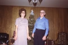 Howell and Lilliand Johnson, Christmas 1972 - Midland