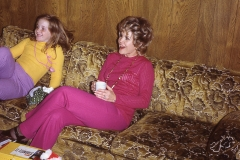 Lisa Mayes and Dawn Wells, Midland 1972 Christmas