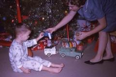 Paul III and Barbara Mayes Christmas 1963 Wichita Falls