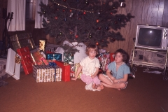 Lisa and Laurie, Christmas 1967 Midland