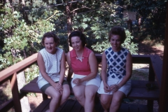 Barbara Mayes with high school classmates, Arkansas 1969