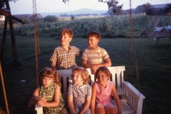 Paul, Jay, Laurie, Lisa and Judy- Arkansas 1969