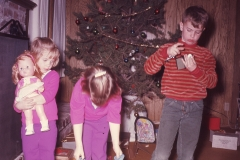 Lisa, Laurie & Paul, Midland Christmas 1967