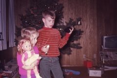 Lisa and Paul, Christmas 1967