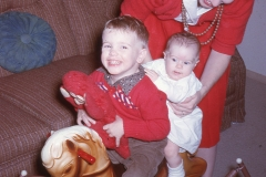 Paul III, Laurie and Barbara Mayes Christmas 1962