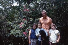 Paul Jr., Laurie, Lisa, Susan in North Carolina, 1971